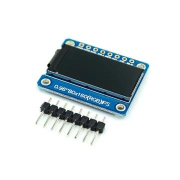 """Wyswietlacz LCD IPS 0.96"""" color 80x160 arduino"""