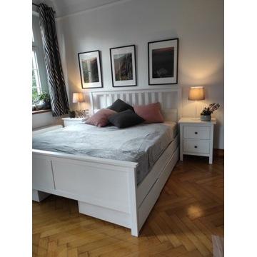 Białe Łóżko Hemnes 180x200 IKEA 4 szuflady