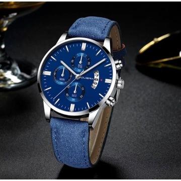 Elegancki męski zegarek + GRATIS zegarek sportowy