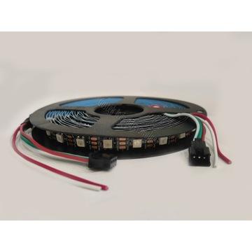 Taśma LED ARGB WS2812B CZARNE PCB 60led/m 5m