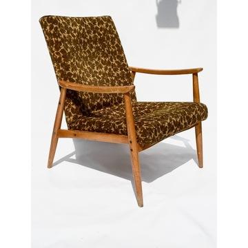 Fotel wygodny stary , prl vintage retro loft lata