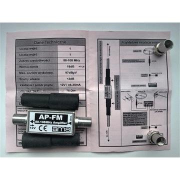 Wzmacniacz antenowy AP-FM AMS plus symetryzator