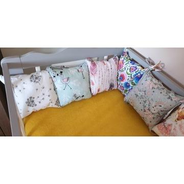 Ochraniacz modułowy, poduszki do łóżeczka
