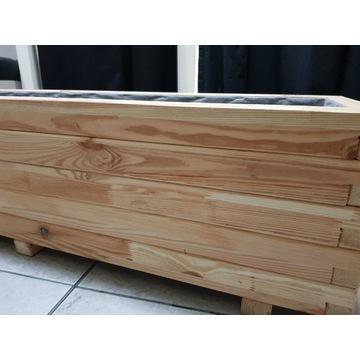 drewniane doniczki kpl