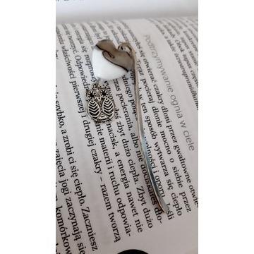 Zakładki do książek metalowe z sówką