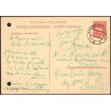 Cp 067 s.V.1936 Częstochowa - Genewa