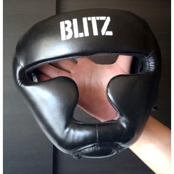 BLITZ Kask ochronny bokserki skórzany sparingowy