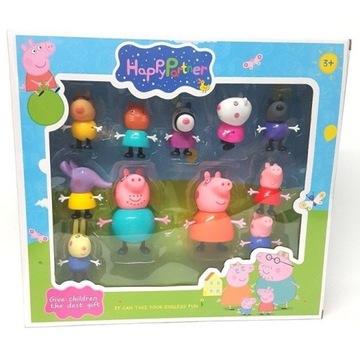 WYPRZEDAŻ Peppa Pig 11 Figurek RODZINA