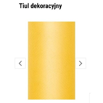 Tiul dekoracyjny żółty 15cm×9m