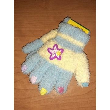 Nowe rękawiczki dziecięce 4 - 6 lat grube ciepłe