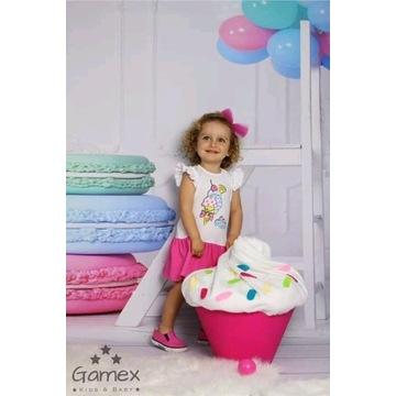 Sukienka bawełniana GAMEX  -Ice cream r74
