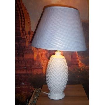Lampa biała stołowa 47 cm NOWA sieciowe