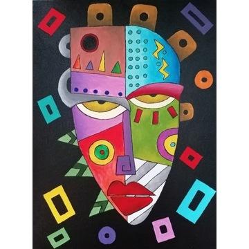 Obraz akrylowy abstrakcja kubizm 30x40 I. Chęś