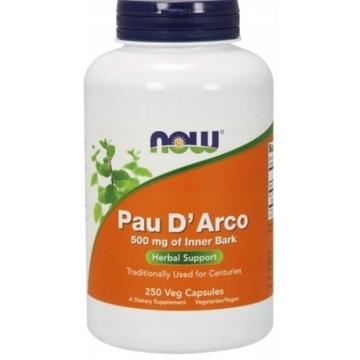 NOW Foods Pau d'Arco 250k 500mg jelita pasożyty