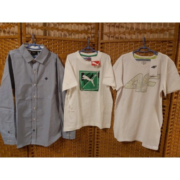 018. Koszulki PUMA 4F i koszula r. 152/158 NOWE