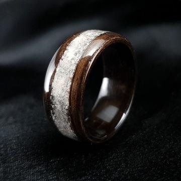 Pierścionek z Kwarcem, Obrączka z minerałem, Ślub