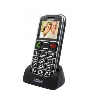 TELEFON DLA SENIORA Maxcom MM462BB STACJA DOKUJĄCA