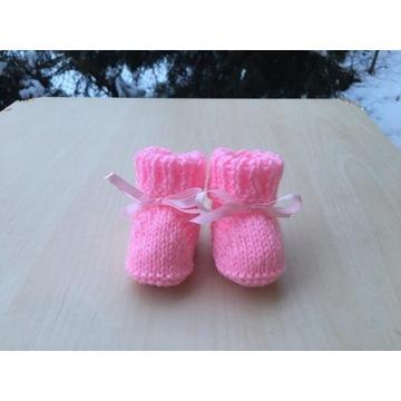 Ręcznie robione buciki dla noworodka  ! Różowe