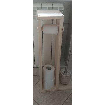 Drewniany stojak na papier toaletowy