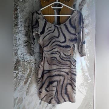 Signature sukienka w zwierzęcy wzór panterka