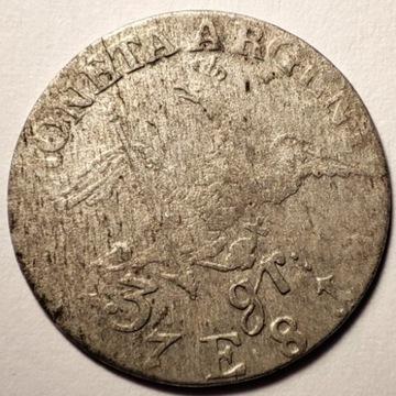 3 grosze 1781 E Srebro Ag