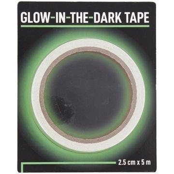 Taśma Świecąca w Ciemności Zielona 500cm Glow Tape