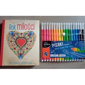 """Kolorowana antystresowa """"Rok miłości"""" z pisakami"""