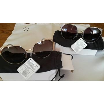 Okulary przeciwsłoneczne UV 400, metalowe oprawki