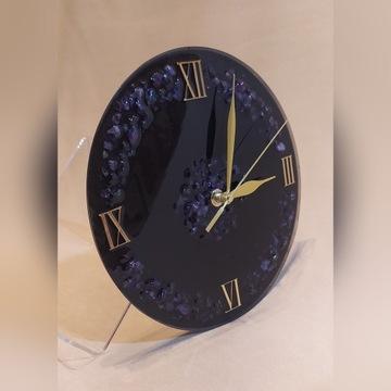 Zegar ścienny z Ametystu