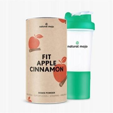 NATURAL MOJO FIT SHAKE-Zestaw Fit Apple + shaker