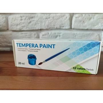 Farby temperowe tempera paint 12 kolorów