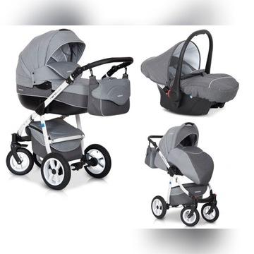 Wózek dziecięcy 3w1 RIKO NANO Alu Szary STAN BDB