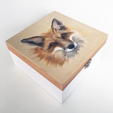 szkatułka pudełko lis lisek