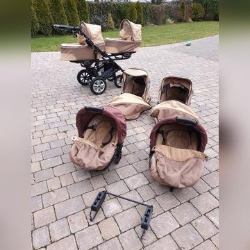Wózek bliźniak bliźniaczy Twinni Baby Active 3w1