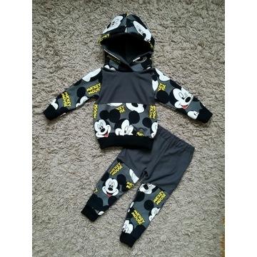 Dres Handmade bluza spodnie r. 92/98 Myszka Mickey