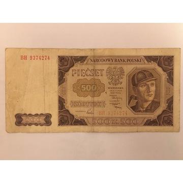 500 zł z 1948 roku seria BH