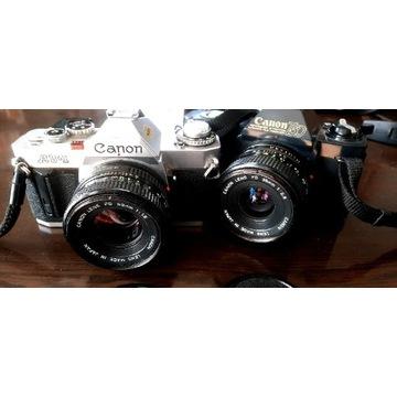 Canon AV1 2,8/35 1,8/50 SPRAWNE T50 gratis