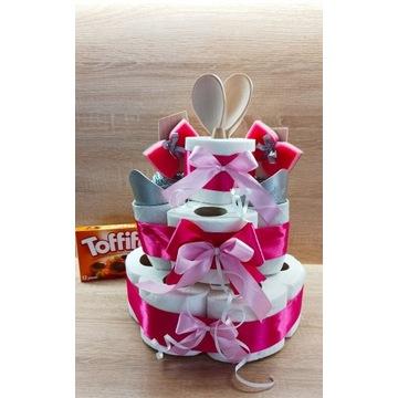 Parapetówkę Tort z papieru toaletowego