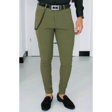 Spodnie Zara W32 (M - 42) Khaki Slim 25V019