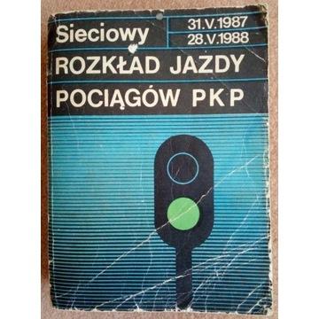 SIECIOWY ROZKŁAD JAZDY POCIĄGÓW PKP 1987/88