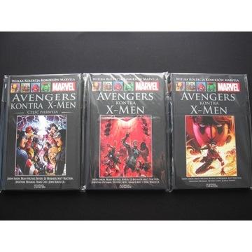 WKKM Avengers kontra X-Men komplet 3 tomów w folii