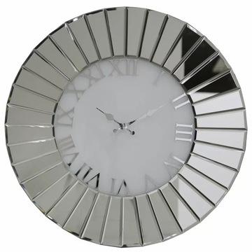 Duży okrągły zegar ścienny z luster Durham 60x60cm