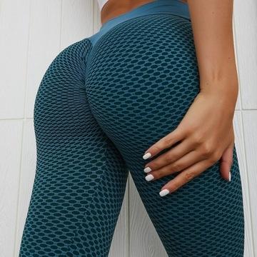 Bezszfowe legginsy push ups, piękne! Wysoka talia