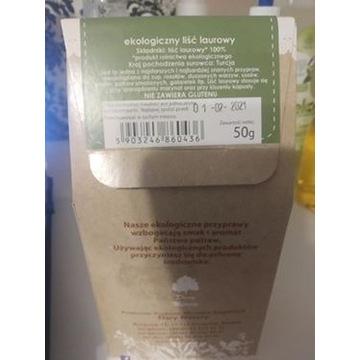 Ekologiczny liść laurowy, 50g, Dary Natury, bez gl