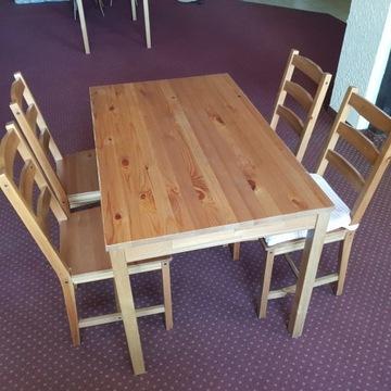 Stól z krzesłami ,hokery