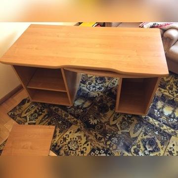 DUZE Masywne biurko z wysuwaną półką na klawiaturę