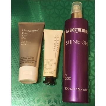 Kosmetyki Larry King Perfect hair Day + spray nowe