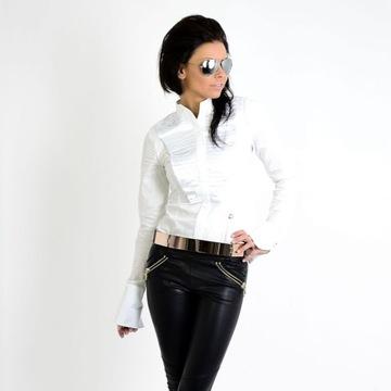 Luksusowa biała koszula body S