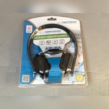 Słuchawki stereo z regulacja głośn. - Esperanza