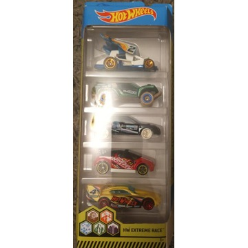 Hot wheels Extreme Race 5pack nowe